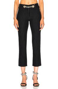 morgan striped velvet pant - Black Miaou oNYAmX