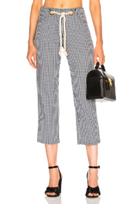 MIAOU TOMMY PANT WITH ROPE BELT IN BLUE,CHECKERED & PLAID