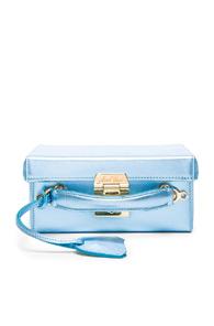 Mark Cross Grace Small Box Bag in Blue,Metallics