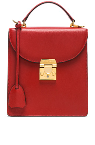 MARK CROSS CAVIAR UPTOWN BAG IN RED