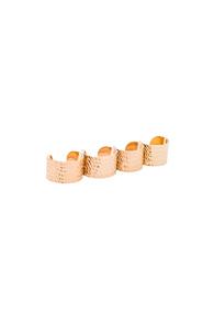 Maison Margiela Textured Ring Set in Metallics