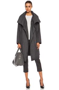 Nina Ricci Manteau Wool-Blend Coat in Gray