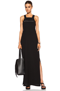 Nomia Long Overall Poly Dress in Black
