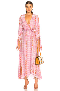 NATALIE MARTIN DANIKA LONG SLEEVE DRESS IN ABSTRACT,PINK