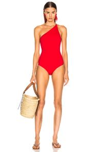 OSCAR DE LA RENTA | Oscar de la Renta One Piece Swimsuit in Red | Goxip
