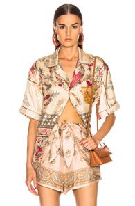 PIERRE-LOUIS MASCIA | Pierre-Louis Mascia Aloe Ultrawash Shirt in Floral,Neutral | Goxip