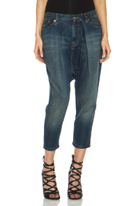 R13 Vintage Harem Jean in Blue