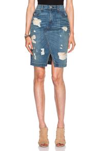 rag & bone/JEAN Denim Skirt in Blue