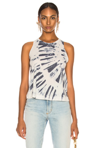 RAQUEL ALLEGRA SWING TANK WITHOUT SHRED IN BLUE,OMBRE & TIE DYE,WHITE