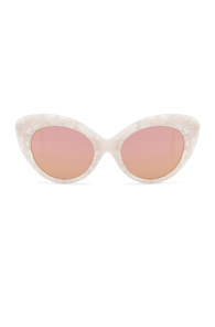 ROBERI AND FRAUD AGNES SUNGLASSES IN WHITE