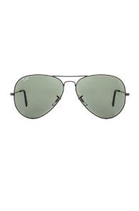 Ray-Ban Aviator Large Metal II Sunglasses in Black