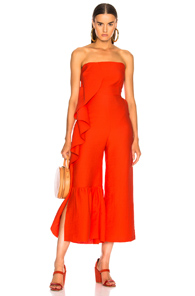 RACHEL COMEY REVEL JUMPSUIT IN RED