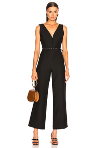 RACHEL COMEY FRAMEWORK JUMPSUIT IN BLACK