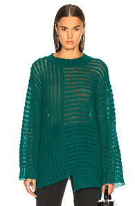 RACHEL COMEY DOUBLES SWEATER IN GREEN