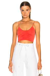 RACHEL COMEY HAMMER TOP IN ORANGE