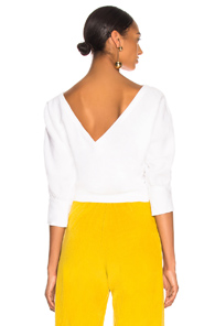 RACHEL COMEY TEMPE TOP IN WHITE