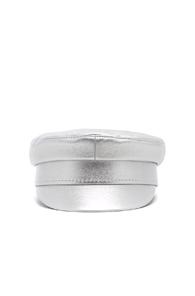 RUSLAN BAGINSKIY FOR FWRD BAKER BOY CAP IN METALLIC SILVER
