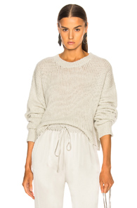 SABLYN MERCY CROPPED CHUNKY SWEATER IN GRAY