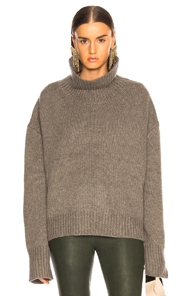 SABLYN SCARLETT TURTLENECK CHUNKY SWEATER IN GREY
