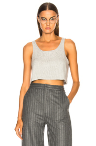 SABLYN GEORGINA COTTON RIBBED TANK IN GRAY