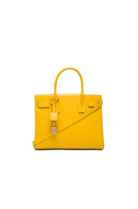 Saint Laurent Baby Sac De Jour Carryall Bag in Yellow