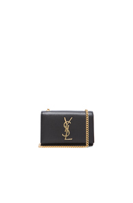 Saint Laurent Small Monogramme Chain Bag in Black