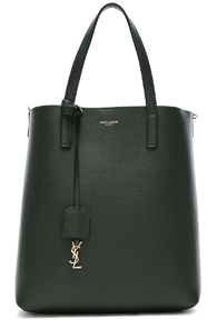 SAINT LAURENT TOY NORTH SOUTH TOTE BAG IN GREEN