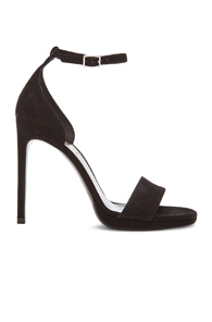 Saint Laurent Jane Suede Sandals in Black