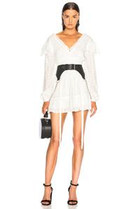 SANDY LIANG YACHTY DRESS IN WHITE