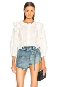 SANDY LIANG ALLIE TOP IN WHITE