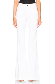 Stella McCartney 70s Flare Jeans in White