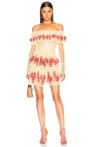 SANDRA MANSOUR FOR FWRD PLAGE DE CHANT DRESS IN YELLOW