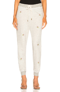 THE GREAT CROPPED SWEAT PANT IN GRAY,FLORAL