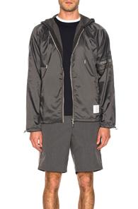 THOM BROWNE | Thom Browne Perforated 4 Bar Jacket in Gray | Goxip