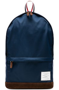 THOM BROWNE NYLON TECH UNSTRUCTURED BACKPACK IN BLUE
