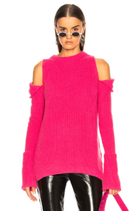 TRE ZIP OFF SWEATER IN PINK