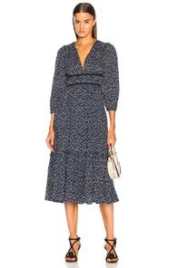 Malena Dress in Abstract,Blue Ulla Johnson