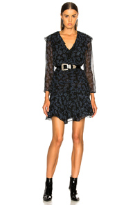 VERONICA BEARD MAGG DRESS IN BLACK,BLUE,FLORAL