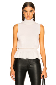 VERONICA BEARD NOOR TURTLENECK IN WHITE