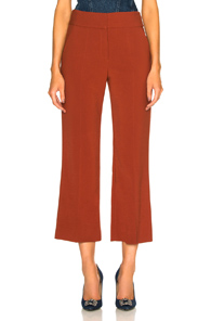 VERONICA BEARD CORMAC TROUSER IN ORANGE