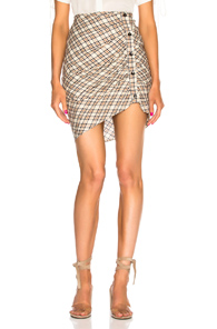 VERONICA BEARD MURPHY SKIRT IN NEUTRALS,CHECKERED & PLAID