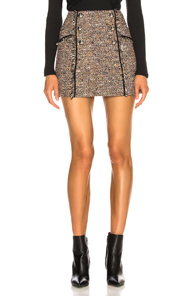 VERONICA BEARD STARCK SKIRT IN BROWN,PLAID