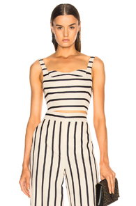 VERONICA BEARD BUSTIER TOP IN NEUTRALS,STRIPES