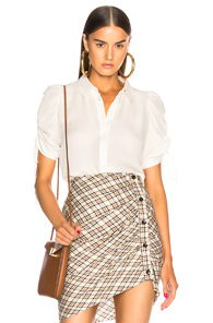 VERONICA BEARD CARMINE BLOUSE IN WHITE