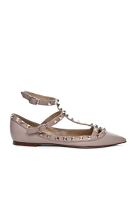Valentino Rockstud Leather Ballerinas in Pastels