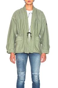 VISVIM Open Front Jacket  in Green