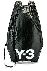 Y-3   Y-3 Yohji Yamamoto Logo Backpack in Black   Goxip