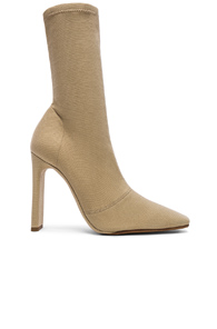 YEEZY SEASON 7 STRETCH CANVAS ANKLE BOOTS IN NEUTRALS