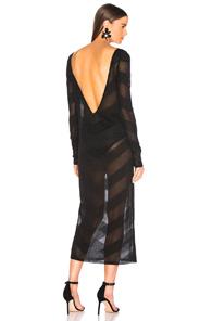ZEYNEP ARCAY Zeynep Arcay For Fwrd Knit V Dress In Black