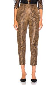 Zeynep Arcay For Fwrd High Waist Skin Print Leather Pants In Animal Print,Brown